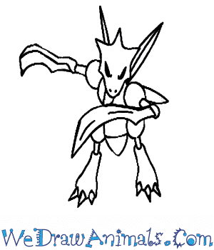 How to Draw  Scyther in 7 Easy Steps