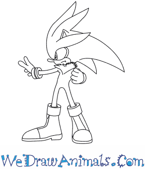 How to Draw  Silver The Hedgehog in 7 Easy Steps