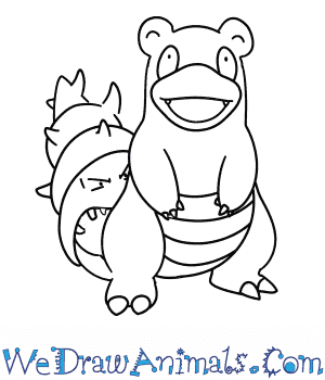 How to Draw  Slowbro in 7 Easy Steps