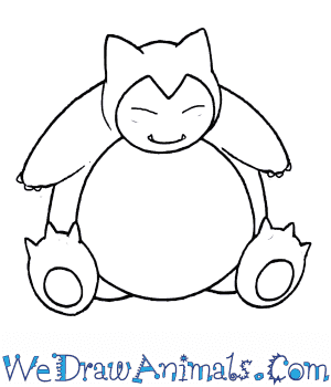 How to Draw  Snorlax in 7 Easy Steps
