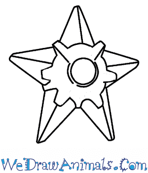 How to Draw  Staryu in 4 Easy Steps