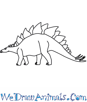 How to Draw a Stegosaurus in 5 Easy Steps