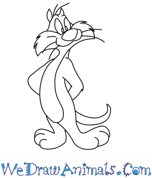 How to Draw  Sylvester From Looney Tunes in 7 Easy Steps