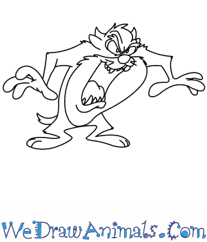 How to Draw  Taz From Looney Tunes in 8 Easy Steps