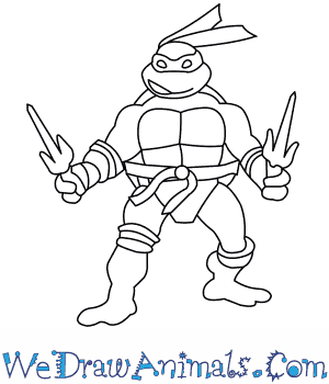 how to draw the ninja turtles