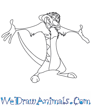 How to Draw  Timon From The Lion King in 8 Easy Steps