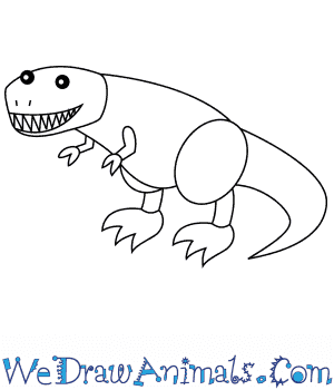 How to Draw a Tyrannosaurus For Kids in 6 Easy Steps