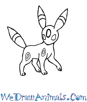 How to Draw  Umbreon in 7 Easy Steps