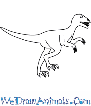 How to Draw an Utahraptor in 6 Easy Steps