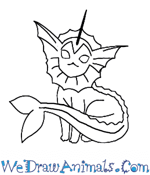 How to Draw  Vaporeon in 7 Easy Steps