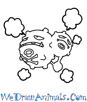 How to Draw  Weezing in 6 Easy Steps