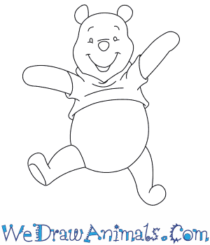 How to Draw  Winnie The Pooh in 7 Easy Steps