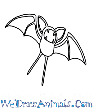 How to Draw  Zubat in 6 Easy Steps