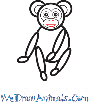 How to Draw a Simple Chimpanzee for Kids