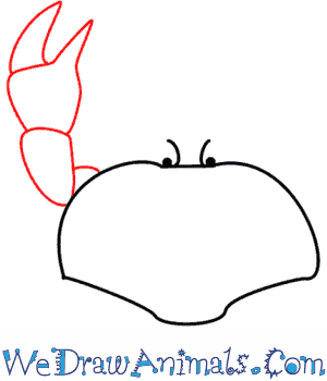 How to Draw a Crab - Quick Step-by-Step Tutorial - Step 3