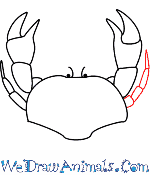 How to Draw a Crab - Quick Step-by-Step Tutorial - Step 6