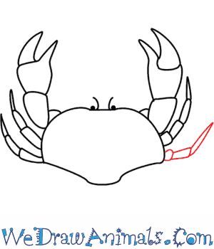 How to Draw a Crab - Quick Step-by-Step Tutorial - Step 8
