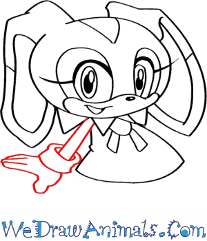 How To Draw Cream The Rabbit From Sonic The Hedgehog