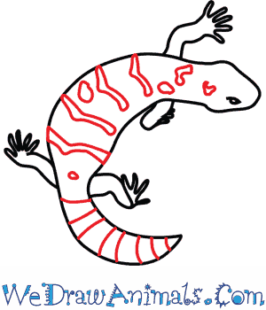 How to Draw a Gila Monster - Quick Step-by-Step Tutorial - Step 7