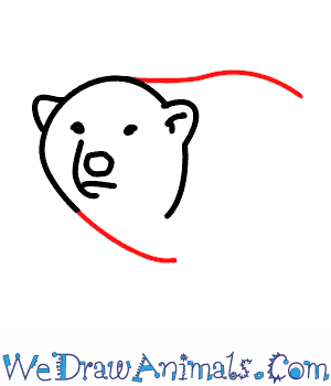 How to Draw a Polar Bear - Quick Step-by-Step Tutorial - Step 4