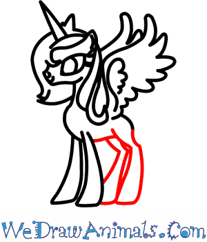 how to draw princess luna from my little pony MLP Pony Outline print tutorial