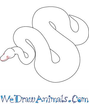 how to draw a python Tiger Snake print tutorial