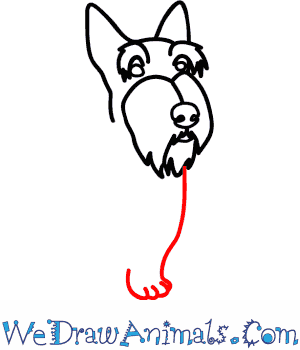 How to Draw a Scottie Dog - Quick Step-by-Step Tutorial - Step 4
