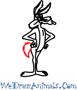 How to Draw Wile E. Coyote From Looney Tunes