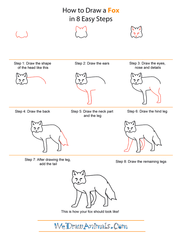 How to Draw A Fox - Quick Step-by-Step Tutorial
