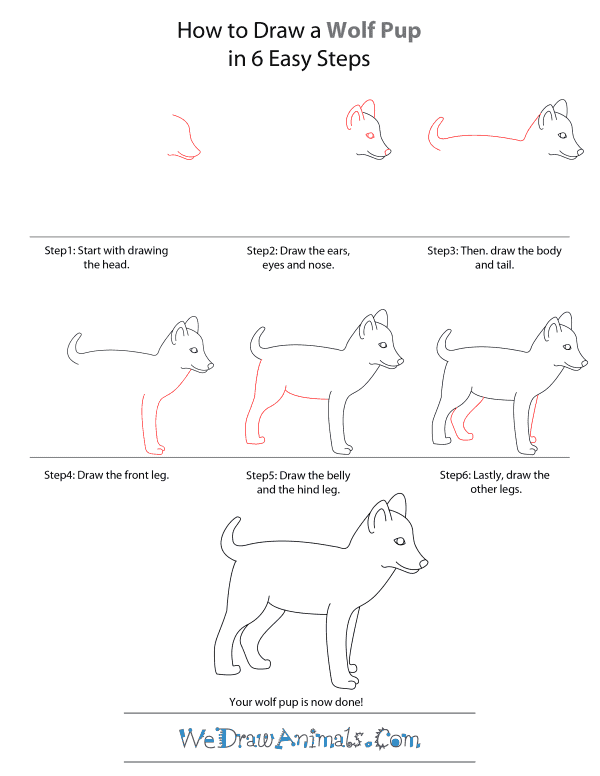 how to draw a wolf howling for beginners