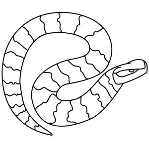 water moccasin coloring page search