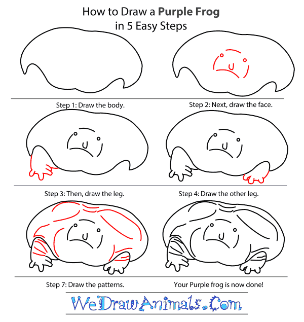 How to Draw a Purple Frog - Step-by-Step Tutorial