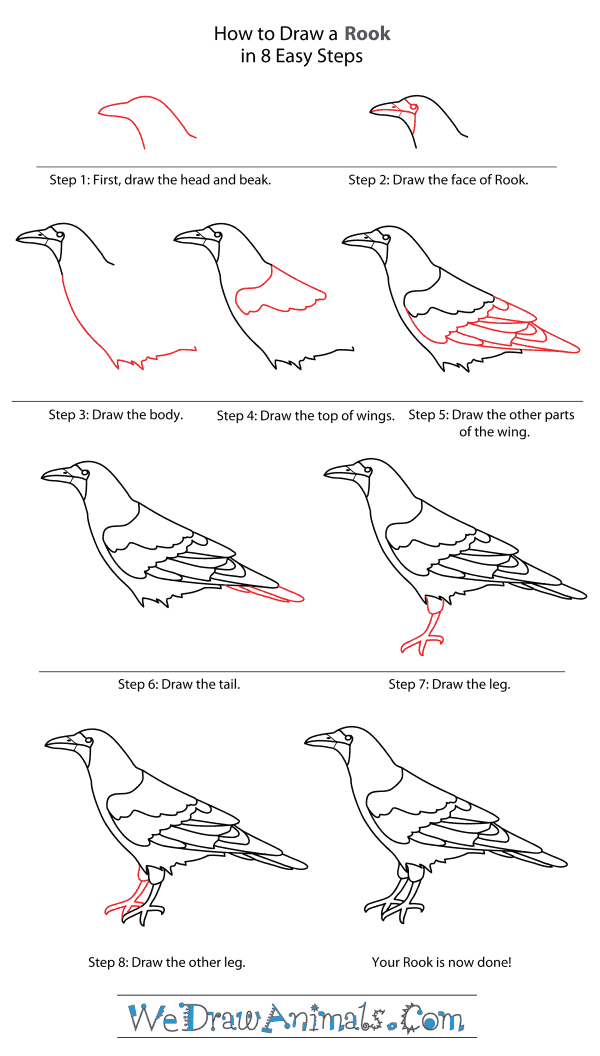 How to Draw a Rook - Step-By-Step Tutorial