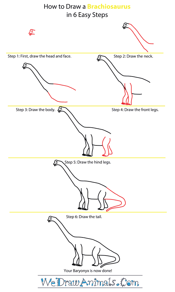 How to Draw a Brachiosaurus - Step-by-Step Tutorial