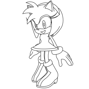 how to draw amy rose the hedgehog step by step