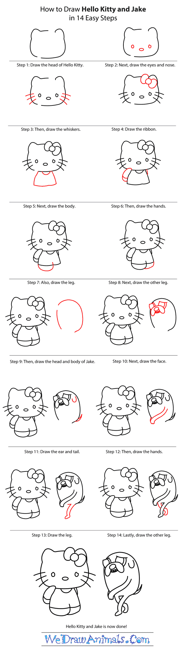 How to Draw Hello Kitty - Step-by-Step Tutorial