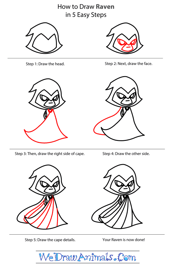 How to Draw Raven From My Little Pony - Step-by-Step Tutorial