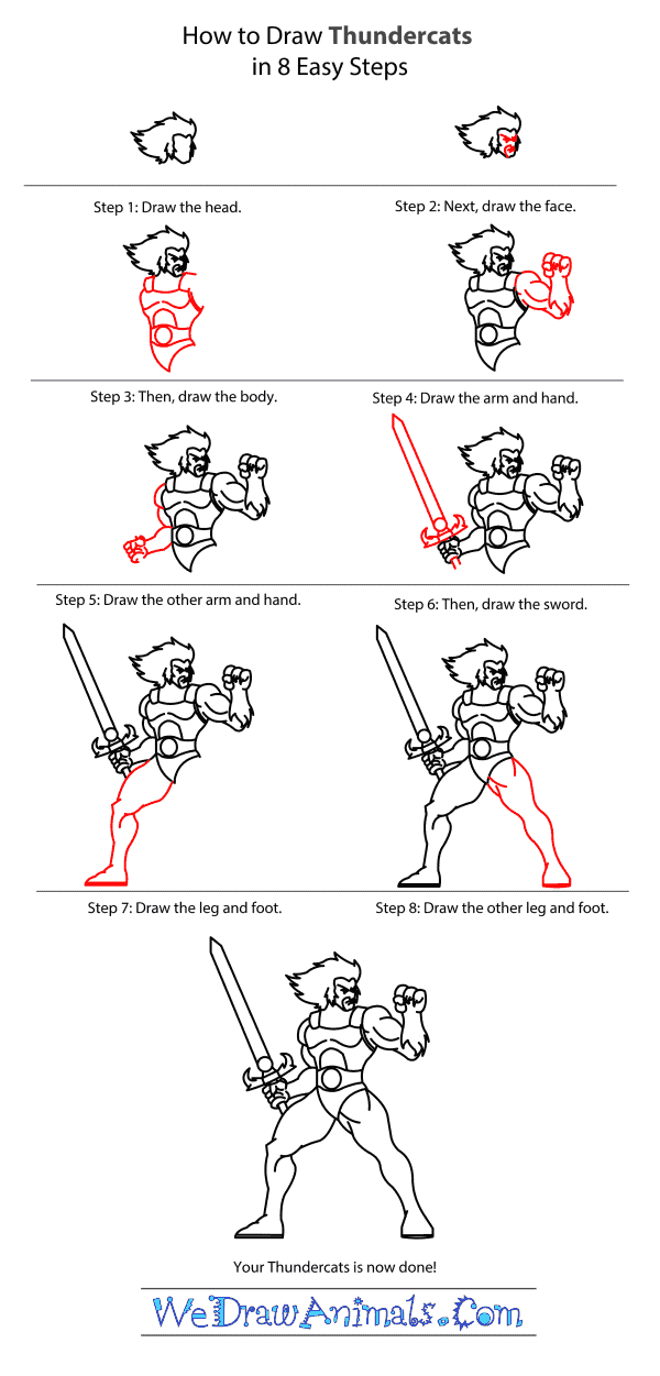 How to Draw Thundercats - Step-by-Step Tutorial