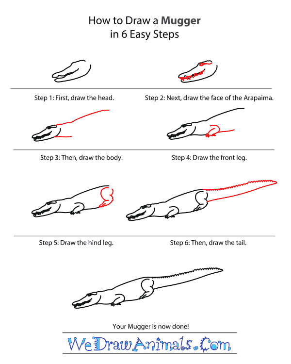 How to Draw a Mugger - Step-by-Step Tutorial