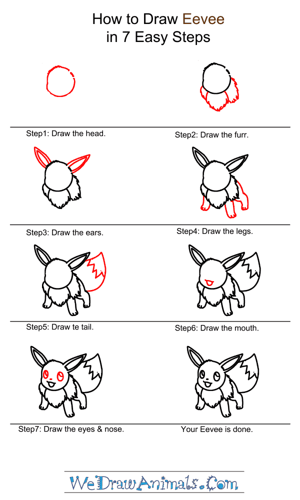 How to Draw Eevee - Step-by-Step Tutorial