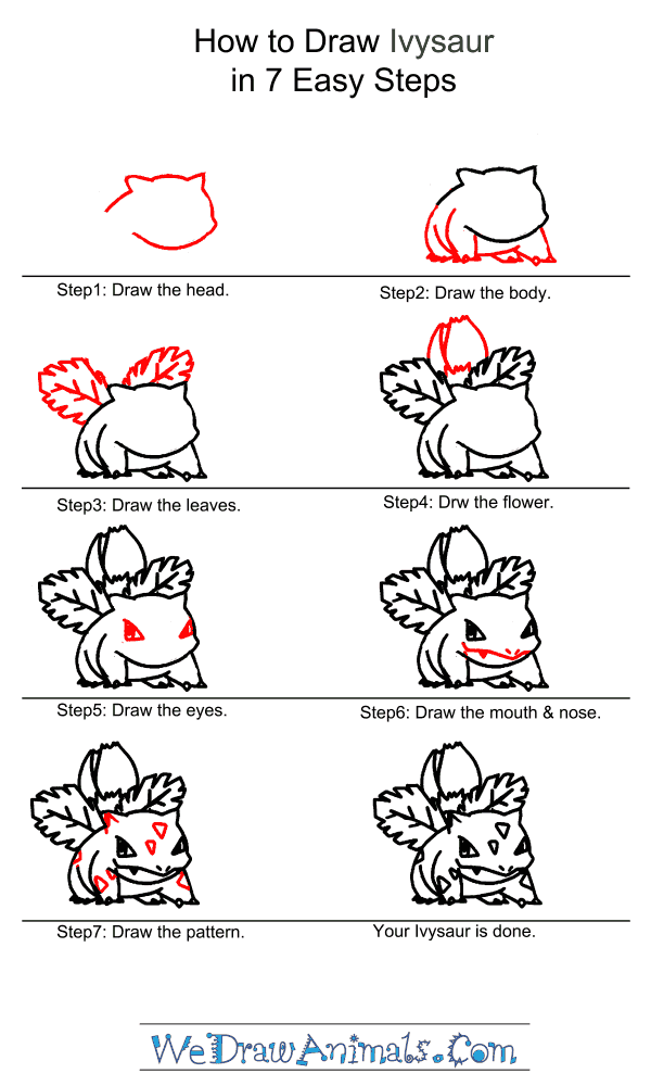 How to Draw Ivysaur - Step-by-Step Tutorial