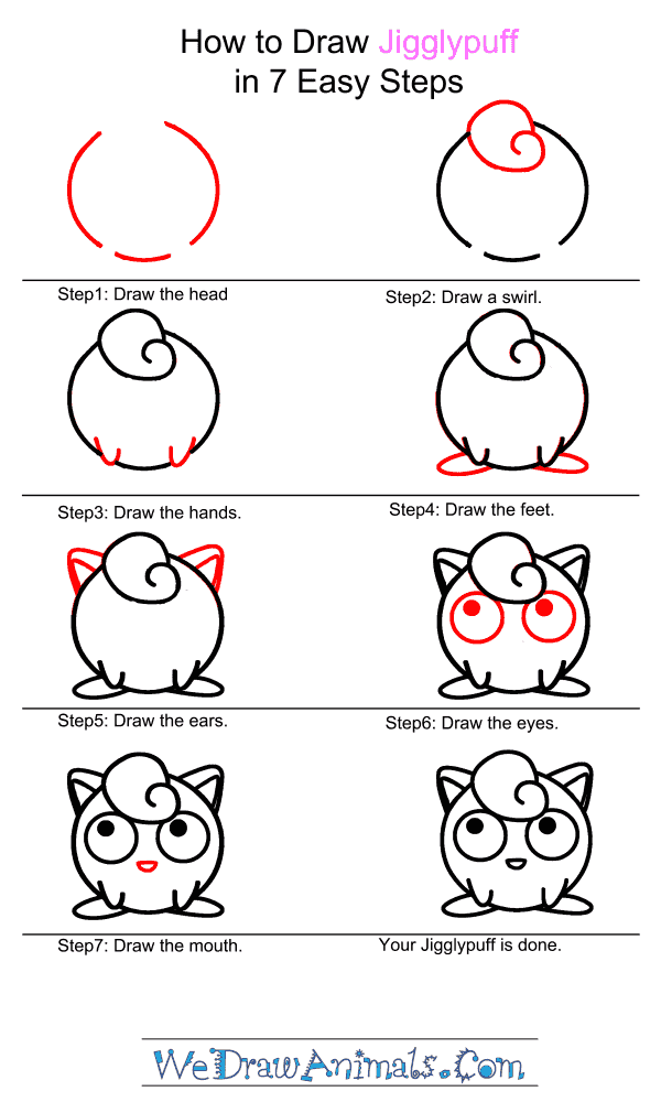 How to Draw Jigglypuff - Step-by-Step Tutorial