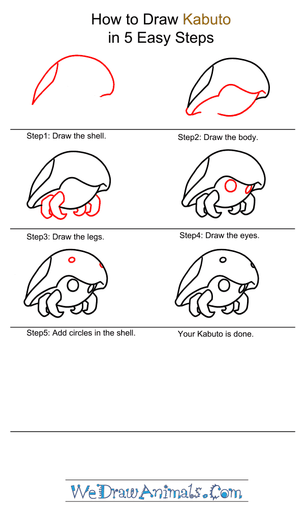 How to Draw Kabuto - Step-by-Step Tutorial