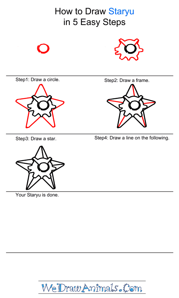 How to Draw Staryu - Step-by-Step Tutorial