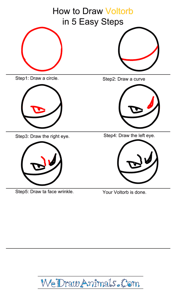 How to Draw Voltorb - Step-by-Step Tutorial