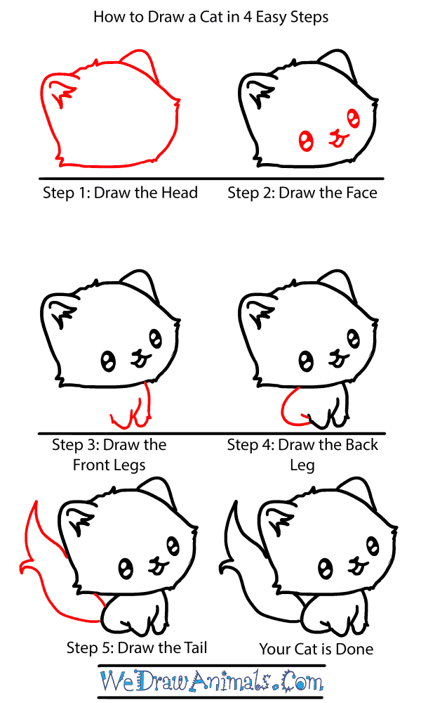 How to Draw a Baby Cat - Step-by-Step Tutorial