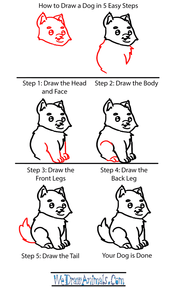 How to Draw a Baby Dog - Step-by-Step Tutorial
