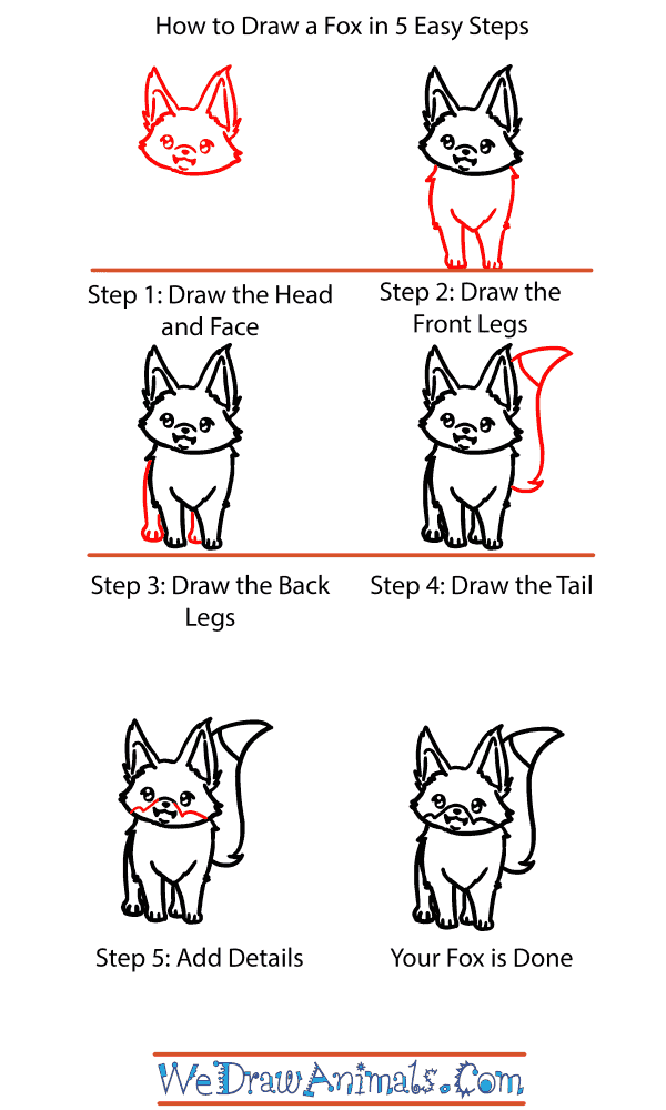How to Draw a Baby Fox - Step-by-Step Tutorial