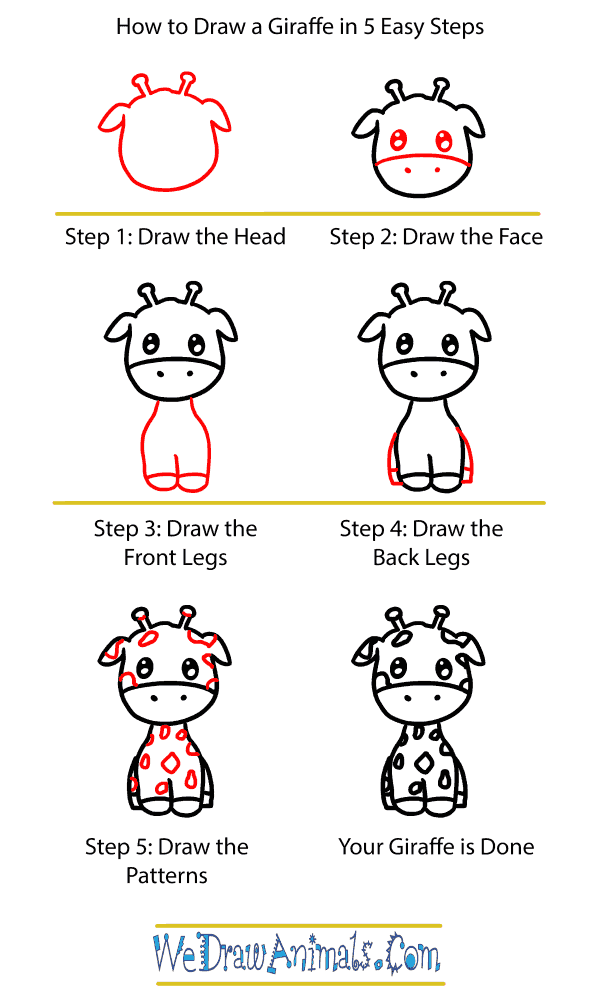 How to Draw a Baby Giraffe - Step-by-Step Tutorial