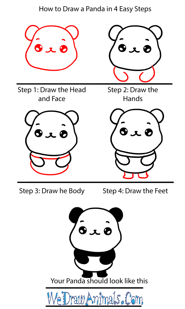 How to Draw a Baby Panda - Step-by-Step Tutorial
